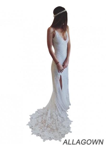 Allagown 2020 Beach Lace Wedding Dresses