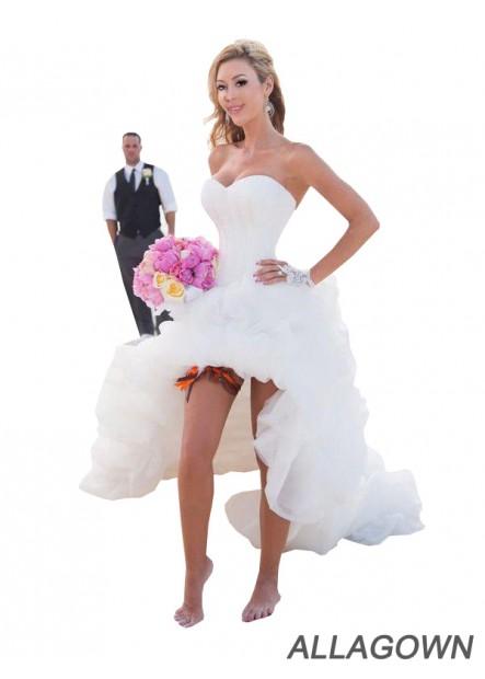 Allagown 2021 Best Selling Beach Short Wedding Dresses