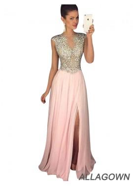 Allagown 2021 Pink Affordable Long Evening Dresses Online Shop
