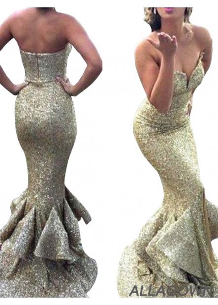 Allagown Mermaid Long Prom Dress