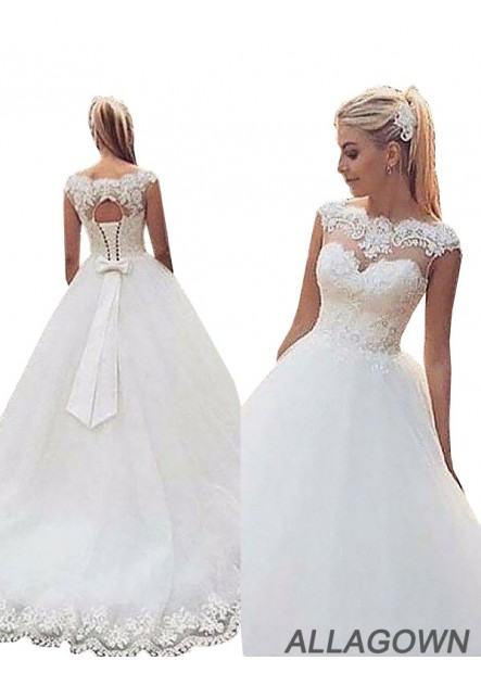 Allagown 2021 White Ball Gowns / Wedding Dresses In All Size