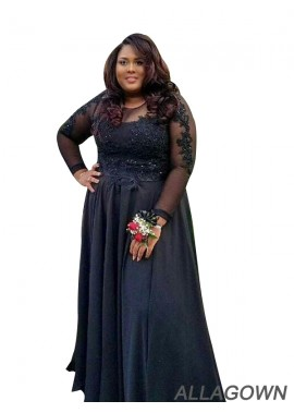Allagown Plus Size Prom Evening Dress