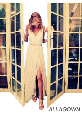 Allagown V Neck Sheath 2021 Wedding Dresseses Online Shop