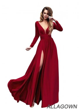 Allagown Buy Sexy Red Long Prom Evening Dresses Online 2019 Style