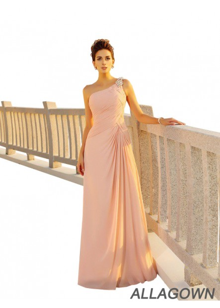 Allagown Buy 2021 One Should Pink Long Prom Evening Dress