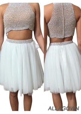 Allagown Short Evening Dress