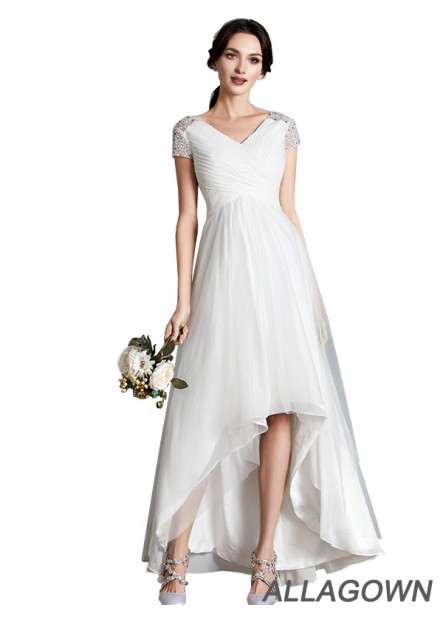 Allagown 2021 Beach Short Wedding Dresses