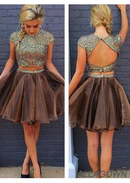 Allagown 2 Piece Short Homecoming Prom Evening Dress