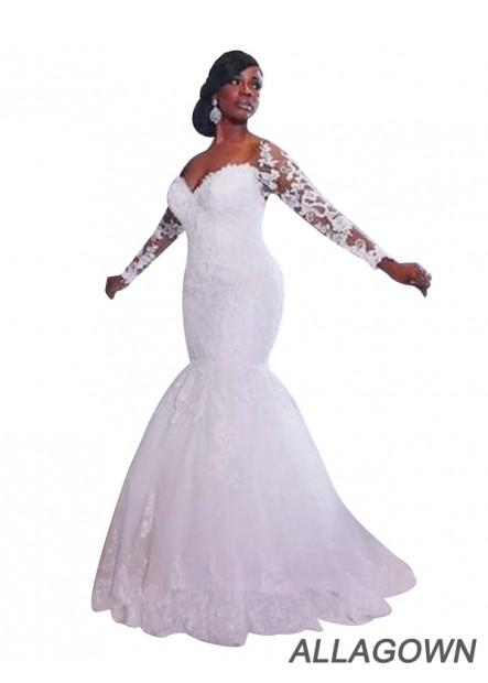 Allagown 2021 New Arrivals Cheap Wedding Dresses For Black Women