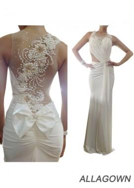 Allagown Mermaid Long Wedding Evening Dress