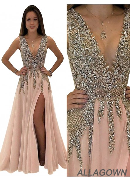 Allagown 2021 Long Prom Gown Evening Dress For Women USA