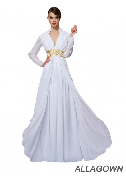 Allagown Buy Long Sleeves Women's Prom Evening Dresses Online