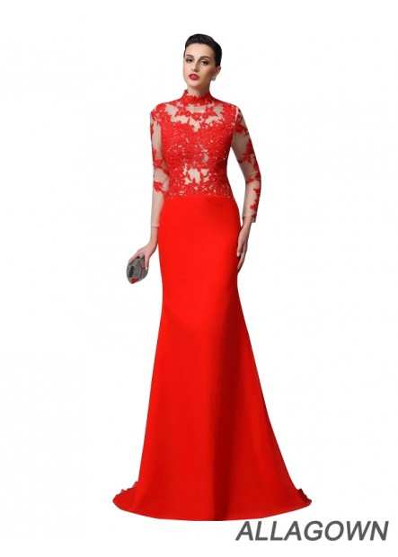 Allagown Sexy Mermaid Prom Evening Dress