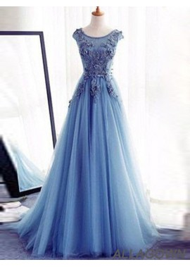 Allagown Long Prom Evening Dress