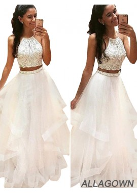 Allagown Two Piece Ball Gown Prom Dresses Online