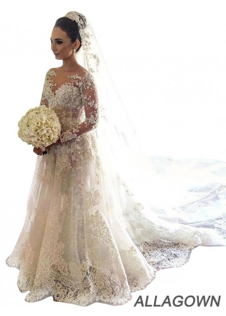 Allagown 2020 Affordable Lace Wedding Dresses Near Me