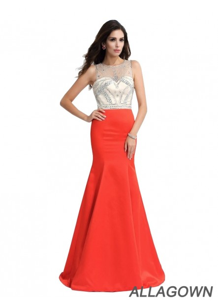 Allagown Sexy Mermaid Long Prom Evening Dress