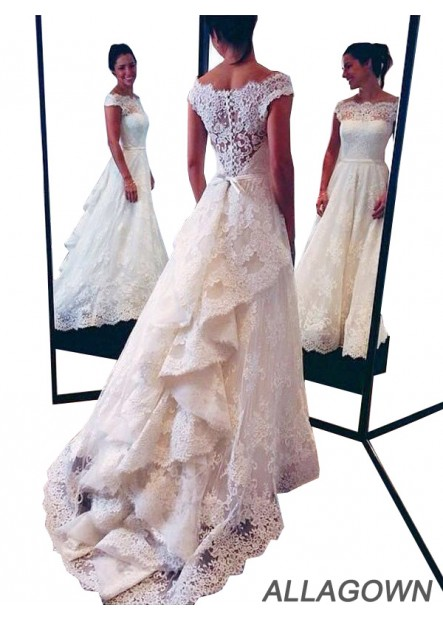 Allagown Buy 2021 Best Fashion Lace Wedding Dresseses USA