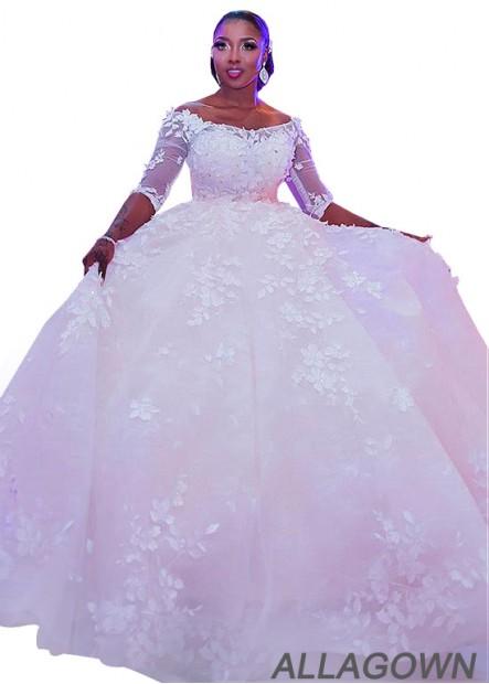 Allagown Plus Size Wedding Gown