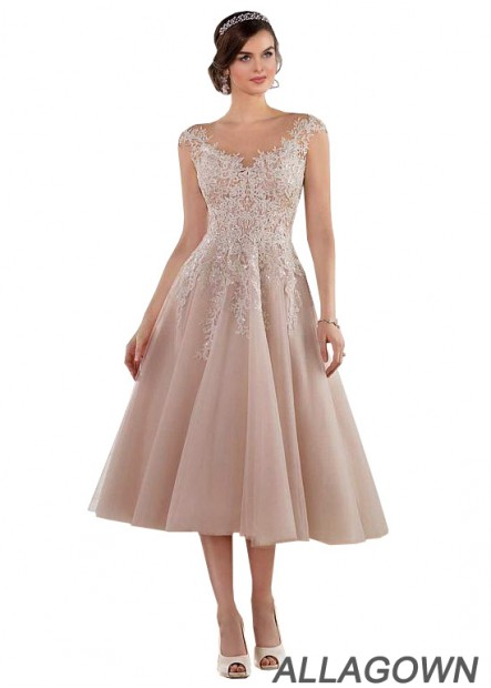 Allagown Short Wedding Dresses With Lace