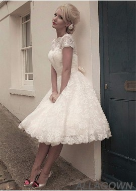 Allagown Short Wedding Ball Gowns For Your Big Day