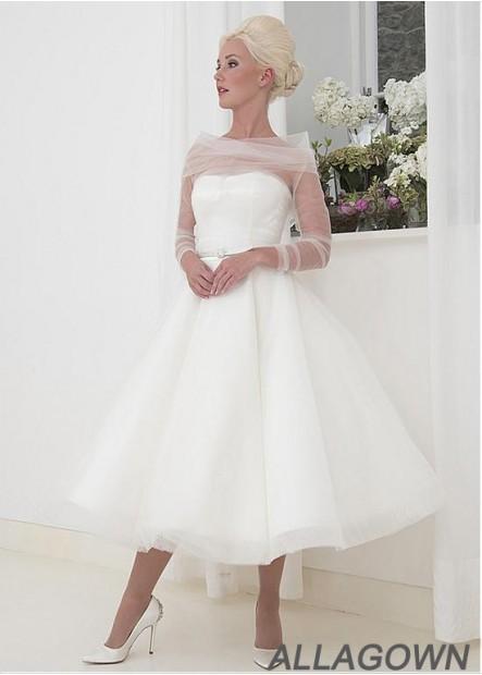 Allagown Short Wedding Dress For Women