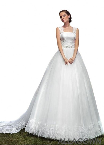 Allagown Wedding Ball Gowns  2020 With Sweep Train