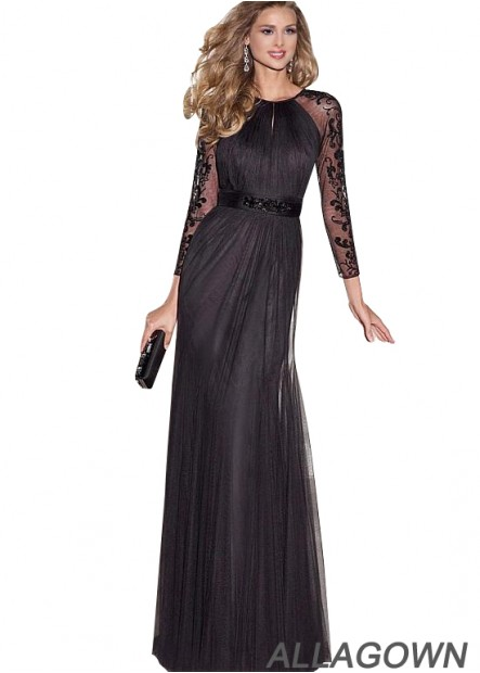 Black Lace Long Sleeves Mother Of The Bride Dresses For Sale