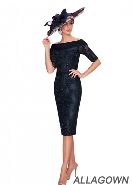 Allagown Black Sheath Lace  Mother Of The Bride Dress  US Sale
