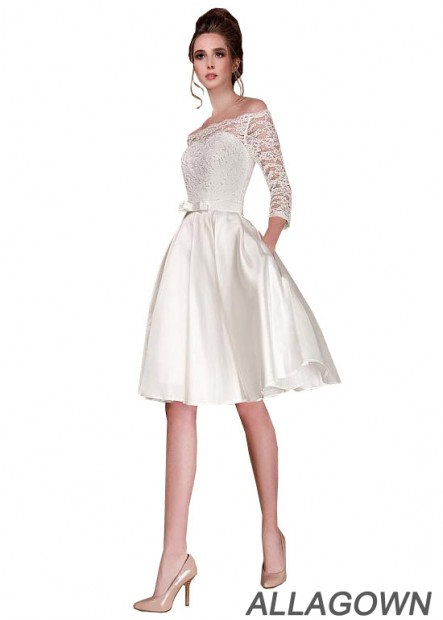 Allagown 2021 Discount Beach Short Wedding Dresses