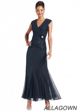 Allagown Exquisite V Neck Mother Of The Bride Dresses Online
