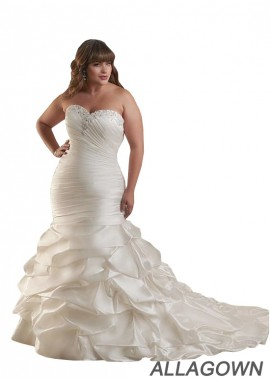 Allagown Plus Size Wedding Dress