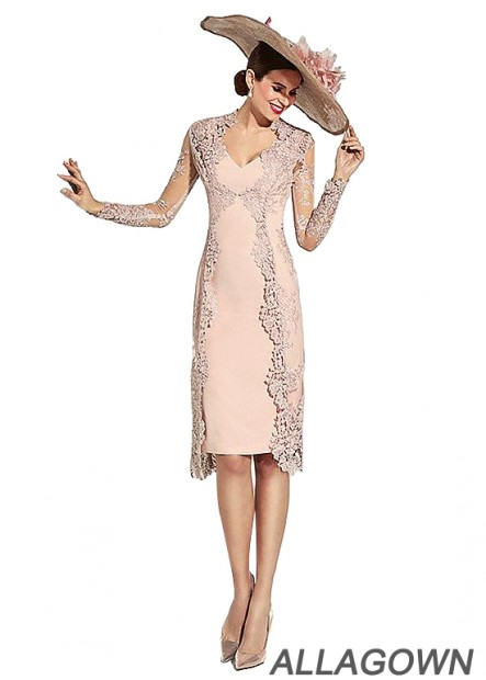 Allagown Petite Mother Of The Bride Outfits Knee Length
