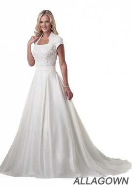 Allagown Plus Size Wedding Dress With Fast Delivery