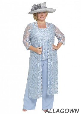 Allagown Plus Size Wedding Trouser Suits For Mother Of The Bride