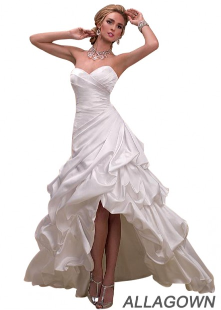 Allagown Short Wedding Dress