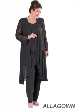 Allagown Plus Size Ladies Trouser Suits for Weddings and Mother