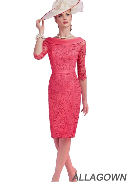 Allagown Short Sheath Lace Mother Of The Bride Dresses For Wedding