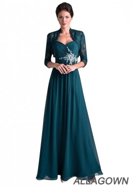 Allagown Mother Of The Bride Dresses Floor Length With Jackets