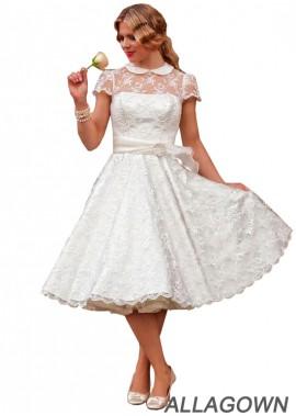 Allagown Short Plus Size Wedding Dress