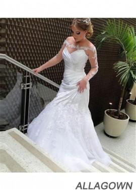 Allagown Plus Size Wedding Dress