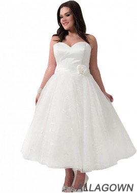 Allagown Short Plus Size Wedding Dress