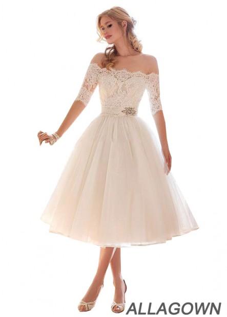 Allagown Beach Short Wedding Dresses