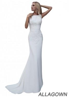 Allagown Sheath Wedding Dresses Online Sale