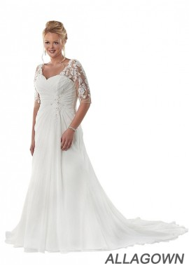 Allagown Beach Plus Size Wedding Dresses