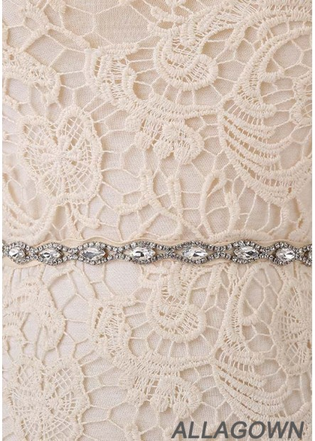 2020 New Rhinestone Code Chain Lace Handmade Sashes t901555987435