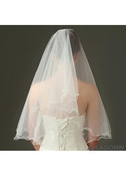 New wedding bride veil piping beaded yarn Wedding Veil