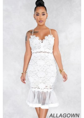 Lace Applique Mesh Sweetheart Sexy Mermaid Party Dress